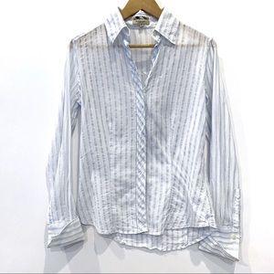 | Burberry London | striped button down blouse